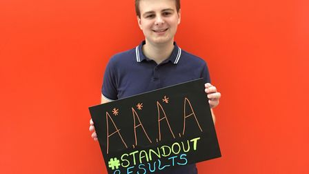 Josh Sturman, who gained three A*s and an A and will study Medicine at UEA. Picture: Conor Matchett