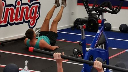 Exercisers back in action. Picture: F45 Highgate