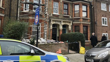 The house in Mount Pleasant Lane where the man was stabbed to death. Picture: Emma Bartholomew