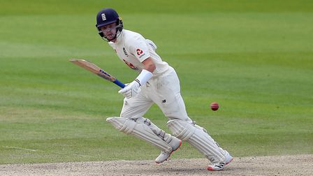 England's Ollie Pope batting during day one of the Third Test at Emirates Old Trafford