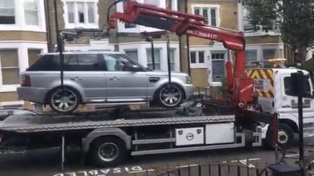 The AA removing Mr Singh's car. Picture: Jagmohan Singh