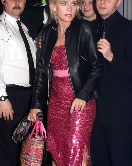 Michelle Collins arrives at the British Soap Awards in 1999. Picture: Toby Melvlle