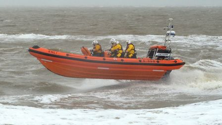Southwold Lifeboat, the Annie Tranmer on a previous call-out. Picture: Mick Howes