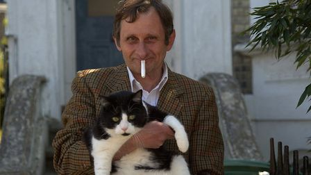 Luigi, and his cat, were among Ruth Corney's lockdown subjects. Picture: Ruth Corney