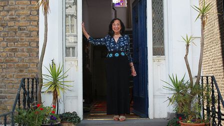 Nargiz photographed at the door of her home by Ruth Corney. Picture: Ruth Corney
