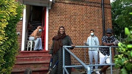 Malik and family photographed for Ruth Corney's Two Metres project. Picture: Ruth Corney