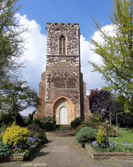 The eastern face of St Mary's Tower in Hornsey, previously part of the parish church. Picture: Archa
