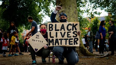 Black Lives Matter protesters in Highgate in June. Picture: Nicole Georgiou