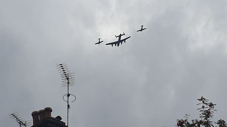 This accompanied Avro Lancaster was seen close up from the top of Parliament Hill on Sunday morning,