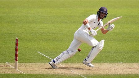 Middlesex's Nick Gubbins bats during day two of the Bob Willis Trophy match at the Kia Oval