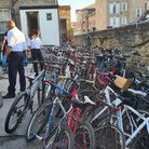 The 118 bikes believed stolen and recovered by police on August 2. Picture: Metropolitan Police