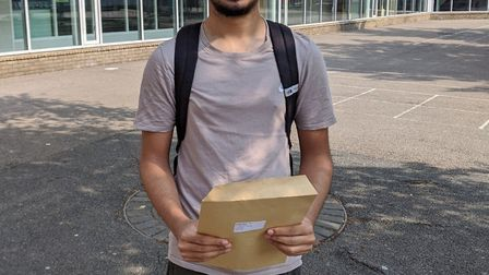 Isfaq Miah, a Haverstock School pupil off to Cambridge after top A Level grades. Picture: Camden Cou