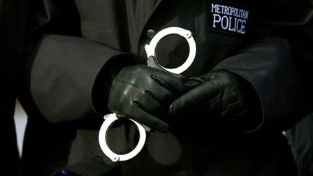 A police officer hit his head and lost consciousness. Picture: Metropolitan Police.