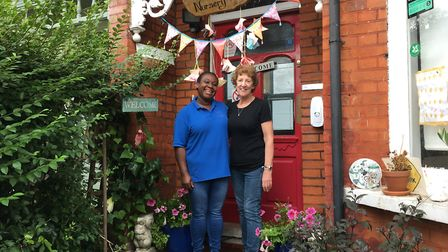 Patricia Rowe (left), Hollybush Nursery's deputy manager, and owner Brenda Pond, who have worked tog