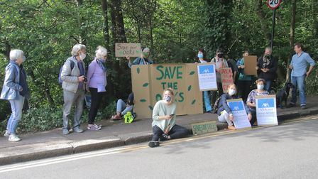 Protesters at Queens Wood. Picture: Julian Glaser