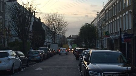 Traffic in Nevill Road. Picture: Hackney Council