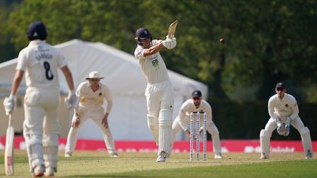Hampshire's Joe Weatherley in action during the Bob Willis Trophy match at Radlett Cricket Club
