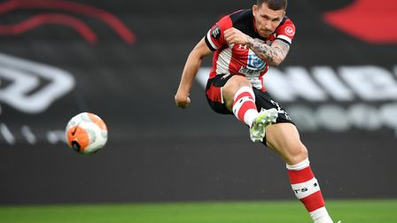 Southampton's Pierre-Emile Hojbjerg during the Premier League match at St Mary's Stadium, Southampto