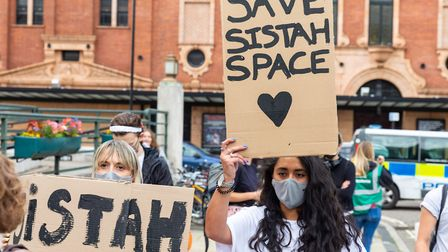 Protesters and activists gathered outside Hackney Town Hall on July 10, 2020. Picture: Andy Commons