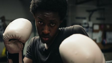 A young Hackney boxer trains at Pedro Club, in Lower Clapton. Picture: Razvan Pestean