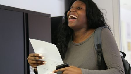 Mariya Adeneye is thrilled with her A Level results from The Urswick School.
