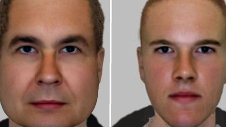 E-fit images of the men police want to speak to. Picture: Met Police