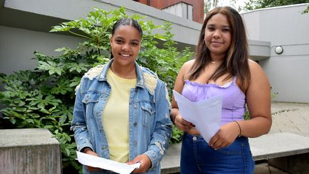 Marli England and Zainab Adams from Acland Burghley. Picture: Polly Hancock