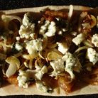 Aubergines and Fig and Blue Cheese Flatbread