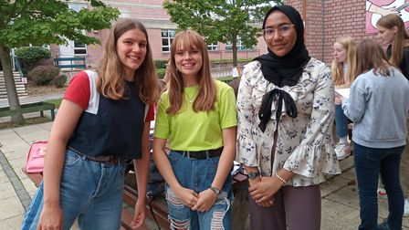 Lizzie McDermott, Mabel Partridge and Inaya Islam. Picture: HSfG