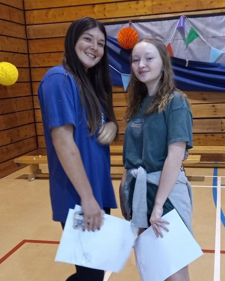 Rosie Morrish and Eden Cavendish scored incredible GCSEs at Highgate Wood School. Picture: Sam Volpe