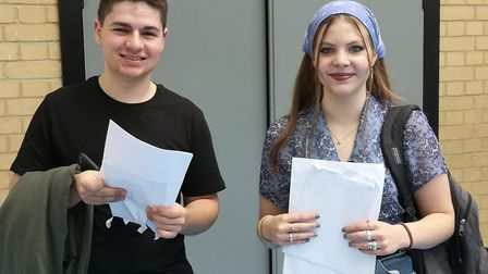 Josh and Natasha, two GCSE high achievers at King Alfred's in Golders Green. Picture: King Alfred's