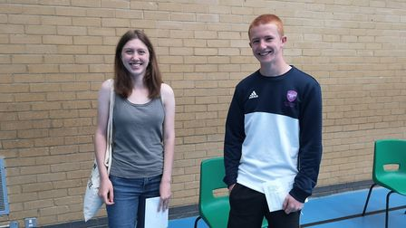 Phoenix and Sam aced their GCSEs at King Alfred's School. Picture: King Alfred's School