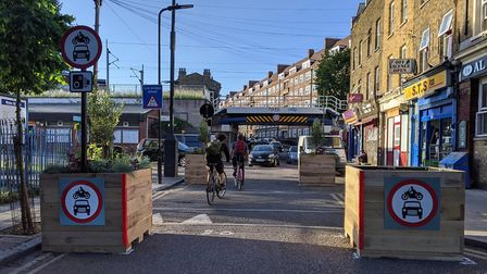 A traffic filter implemented on Barnabas Road is one of the ways Hackney Council is tackling polluti