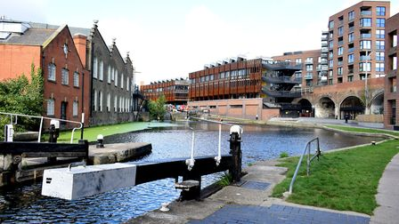 New and old buildings flank the canal at Kentish Town Road. Picture: Polly Hancock