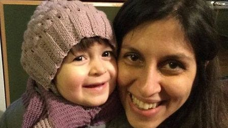 Nazanin Zaghari-Ratcliffe with a young Gabriella before Nazanin was arrested in April 2016. Picture: