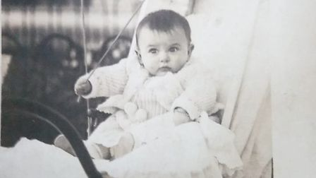 A picture of Angela Hutor aged 5 months when she still lived in Cannes, France. Picture: Courtesy o