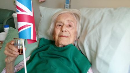 Angela on VE day. Her daughter Pauline says the photo was taken three days after she was called in t