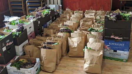 Streetbox donations delivered to an organisation in Hackney called Woodberry Aid. Picture: Streetbox