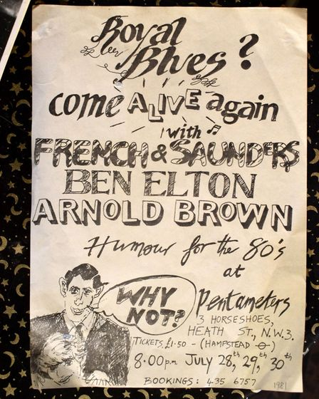 A French and Saunders and Ben Elton poster - they performed over the weekend of Charles and Diana's