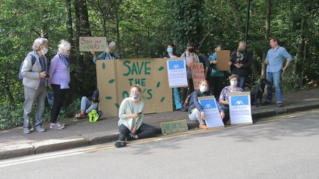 Queens Wood, London N10 3DL Action to prevent oak felling. Picture: Julian Glaser