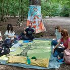 The Tarot Forge in action in Queen's Wood, Highgate. Picture: Cristina De Rossi