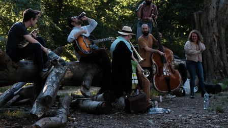 Live at the Log: Jazz musicians who have brightened heath-goers' days. From left to right:Tom Olsen