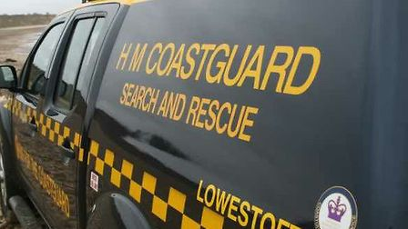 Coastguard rescue teams were called out. Photo: HM Coastguard Lowestoft and Southwold.