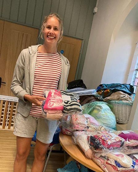 Baby bank volunteer Hannah is one of 400 mums suppoting mothers across London. Picture: E5 Baby Bank