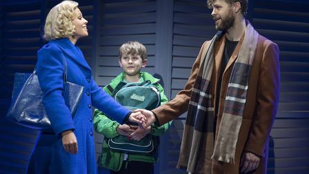 Kimberley Walsh, Jack Reynolds and Jay McGuinness in Sleepless, A Romantic Musical. Picture: Alistai