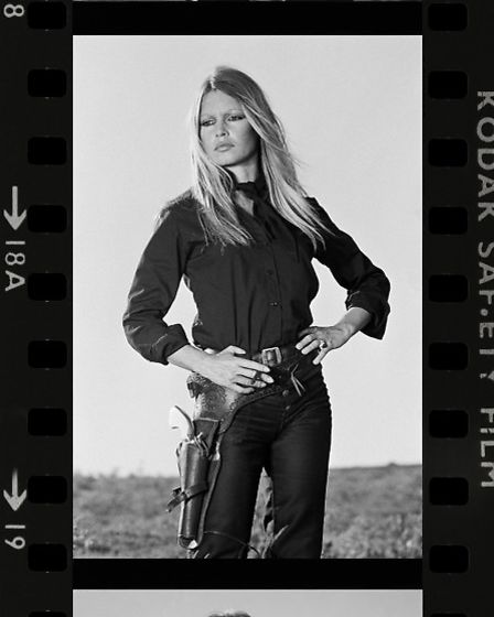 French actress Brigitte Bardot on the set of 'Les Petroleuses' a.k.a. 'The Legend of Frenchie King',