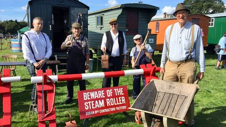 The 44th Grand Henham Steam Rally. Members of the East Anglia Transport Museum in Carlton Colville o