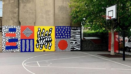Newport School in Leyton's playground mural will be unveiled on the first day of the new school term