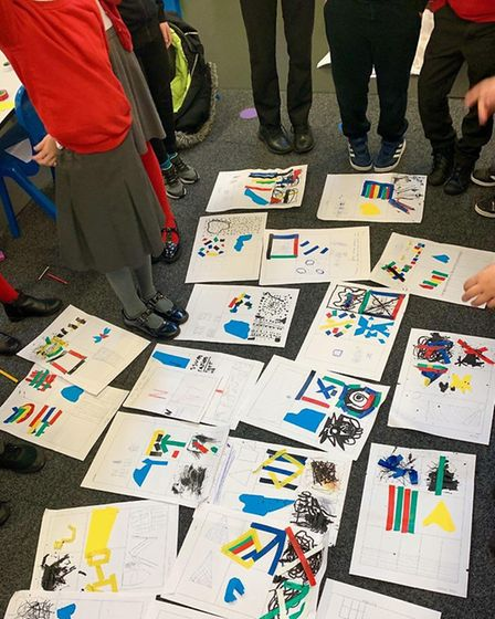 Newport School year 4 pupils' designs after a creative workshop lead by Coco Lom. Picture: Courtesy