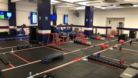 The F45 Highgate gym has portioned off the gym floor to allow for social distancing. Picture: Franki